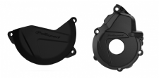 New KTM EXCF 250 350 17-18 Clutch Ignition Cover Combo Protector Black
